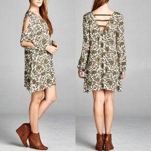 2X Boutique Velzera Cotton Split Sleeve Boho Tunic